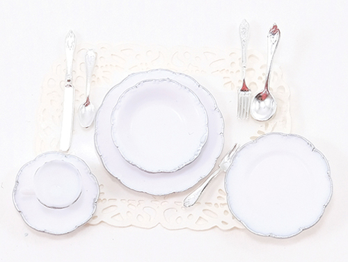 CB098 - One Place Setting-Silver Trim