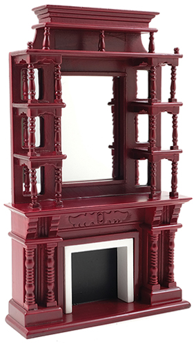CLA00036 - Victorian Fireplace with Mirror