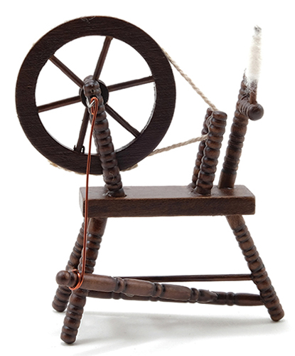 CLA00265 - Spinning Wheel, Walnut
