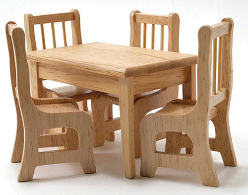 CLA01208 - Oak Dining Table and 4 Chairs