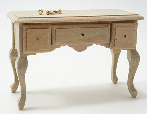 CLA08655 - 3 Drawer Table, Unfinished