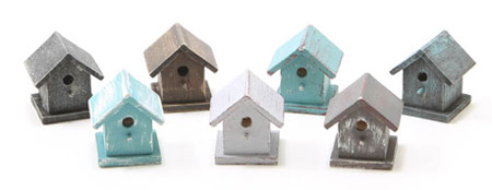 CLA10673 - Bird House,  Hand Painted, Assorted Colors