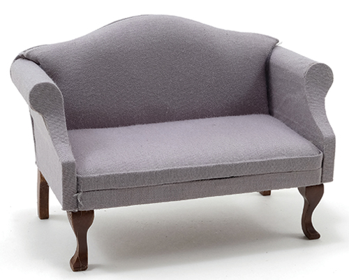 Sofa, Walnut with Gray Fabric