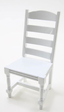 CLA10998 - Ladder Back Side Chair, White