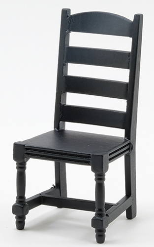Ladder Back side Chair, Black