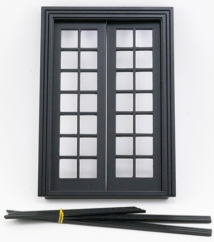 Double French Door, Black  ()