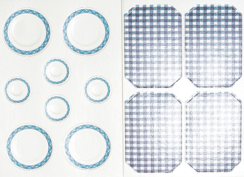 CLA90721 - Table Setting/12: Picnic Pizazz, Blue