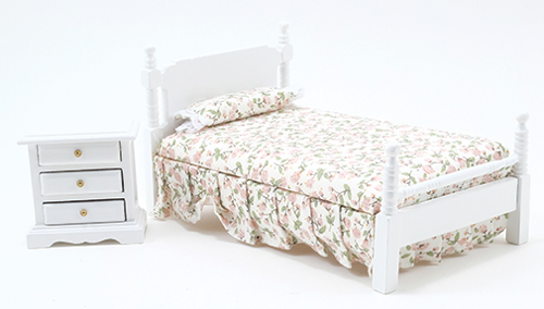 CLA91655 - Single Bed & Night Stand, White