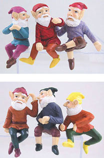 DDL1207 - Small Gnome 2 3/4 in Assorted 6Pc Set