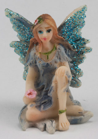 Small Fairy w/ Knee up, Blue Dress