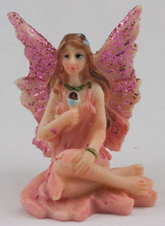 DDL1233 - Small Fairy w/ Legs to Side, Pink Dress