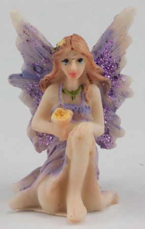 DDL1234 - Small Fairy w/ Knee up, Purple Dress