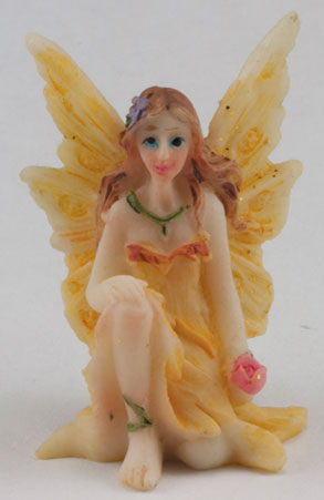 DDL1238 - Small Fairy w/ Knee up, Yellow Dress