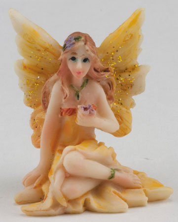 Small Fairy w/ Legs to Side, Yellow Dress