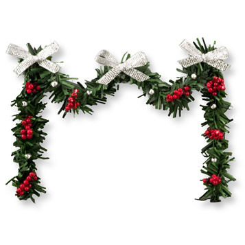 DH49235 - Siver & Red Fp Garland