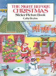DOV1102 - The Night Before Christmas Sticker Book