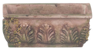 FCA1006B - Flower Box, Brown W/Moss, 3Pcs