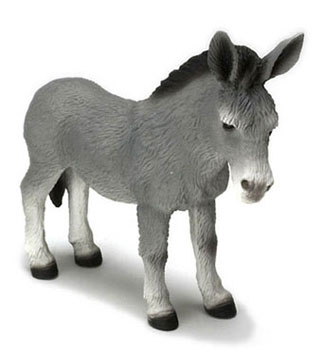 FCA1039GY - Standing Donkey, Gray