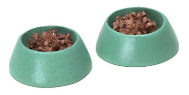 FCA1135GN - Dog Dish, Green, 2Pc