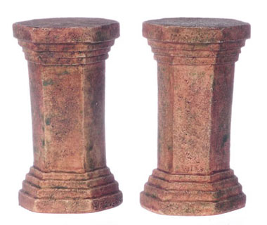 FCA4001GA - Hexagonal Pedestal 2 Pcs, Gray Ancient