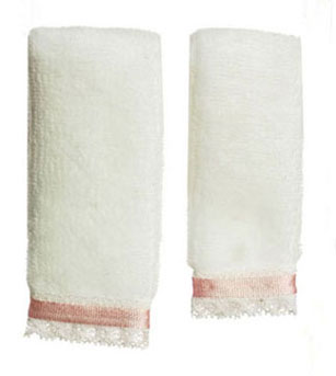 FCA52PK - Towel Set, White with Pink Ribbon