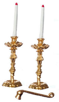 FCN1829 - .Candlesticks with Candles & Snuffer