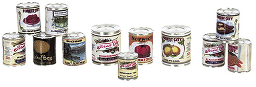 FR40268 - Food Cans Set, Assorted, Set/12