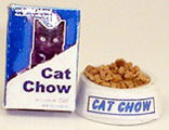 HR57190 - Cat Chow Box W/Bowl Of Food & Water