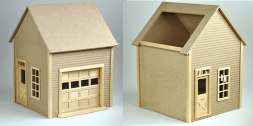 HW9997 - Garage Kit W/Working Door,Free Standing,Milled Mdf