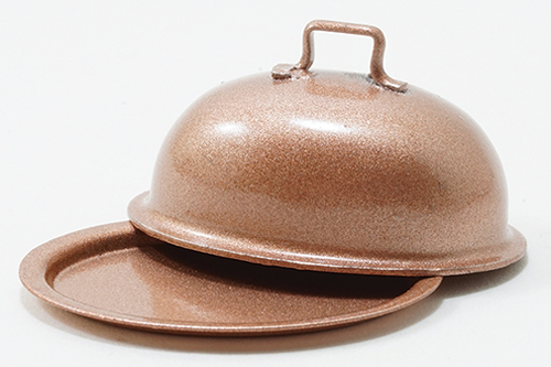 IM65056 - Copper Oval Plate With Lid
