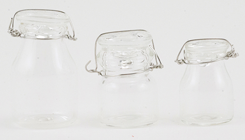 IM65155 - Set of Glass Canisters, 3PC