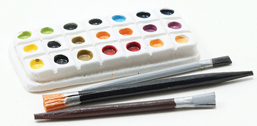 Paint Palette with 3 Brushes