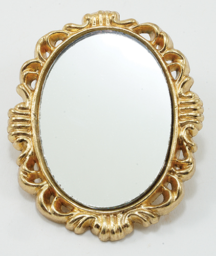 IM65426 - Oval Mirror, Brass