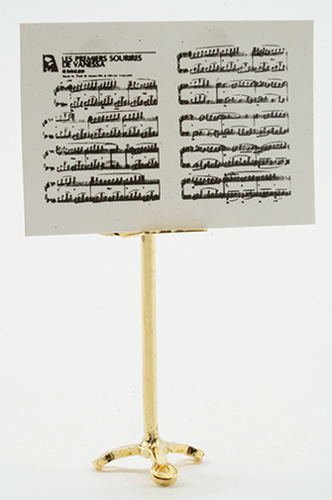 IM66055 - Brass Music Stand with Sheet Music, 2pc