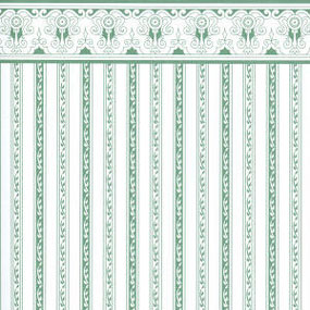 JM03 - Wallpaper: Regency, Green Stripe