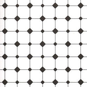 JM11 - Floor Paper: Diamond Tiles,Black& White