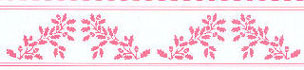 JM21B - Border: Acorns, Pink On White