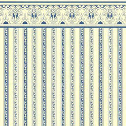 JMS01 - Wallpaper:1/2 Scale Regency Stripe, Blue