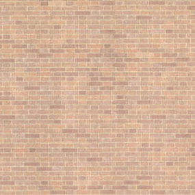 JMS51 - Wallpaper, 3pc: 1/2 Scale Old Red Bricks (18 X 12)