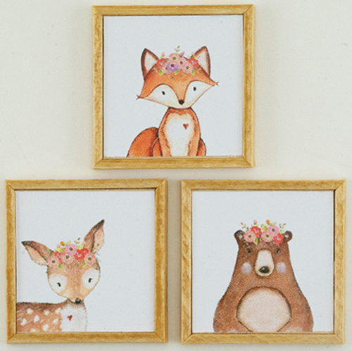 KCMKF30 - Woodland Picture Set, 3 Piece