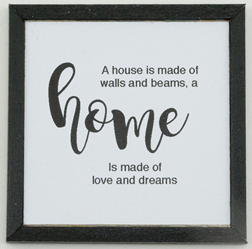 KCMQT5BLK - Home Picture, 1 Piece, Black Frame