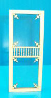 LT070 - Victorian Screen Door, 2-7/8 X 6-11/16 H