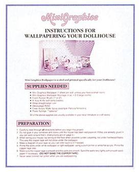MG118 - Book: How To Wallpaper Your Dollhouse