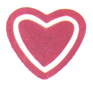 MG809 - Small Hearts, Sm. Area Rug, Baby Pink