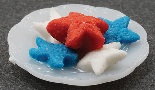MUL5357D - Red, White & Blue Cookies On Plate