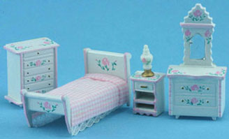 MUL5411A - 1/4In Bedroom Set Hp Wh/Pink
