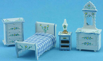 MUL5411B - 1/4In Bedroom Set Hp Wh/Blue