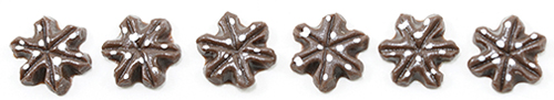 Chocolate Snowflake Cookie, 6pc