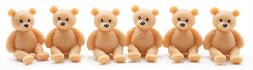 MUL6033 - Teddy Bears, 6 Pieces