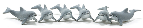 MUL6034 - Dolphins, 6 Pieces